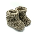 DINA slippers wool 100% natural GREY spotted