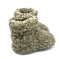 DINA sloffen 100% natuurlijk wol GRIJS gevlekt