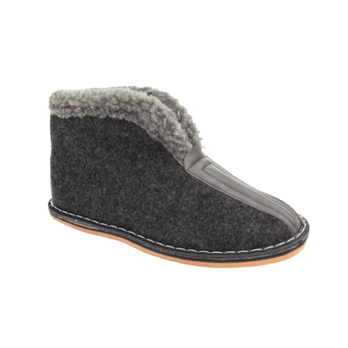 DINA  slippers lined hard sole with collar