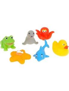 JohnToy Happy World - 6 badspeeltjes in tasje