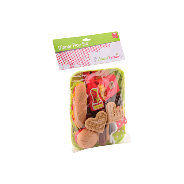 Home and Kitchen Home and Kitchen Fastfood met dienblad
