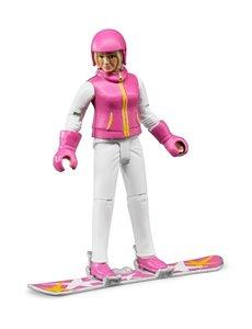 Bruder 60420 - Speelfiguur vrouw met snowboard