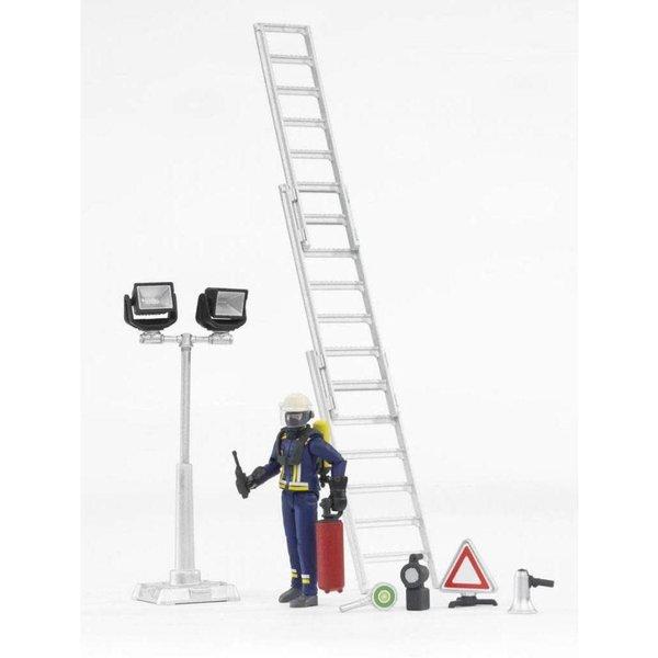 Bruder 62700 - Brandweerman met ladder en accessoires