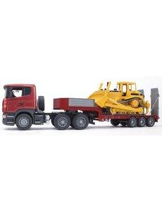 Bruder 3555 - Scania R met dieplader en Caterpillar bulldozer