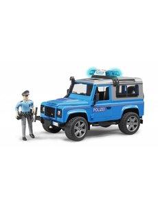 Land Rover Defender Stationwagen - Politieauto en politie agent