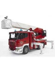 Scania brandweer ladderwagen met waterpomp, licht & geluid