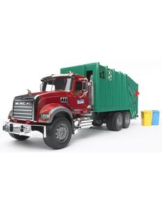 Mack-Granite vuilnisauto rood groen