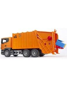Bruder 3560 - Scania R vuilnisauto oranje