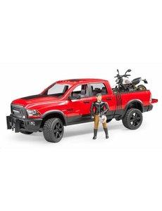 Bruder 2502 - RAM 25 Power Wagon met Ducati motor en berijder