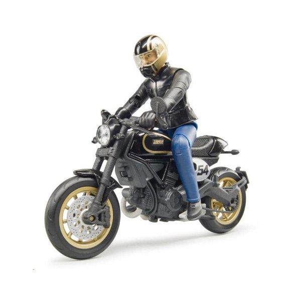 63050 - Ducati Scrambler Cafe Racer en berijder