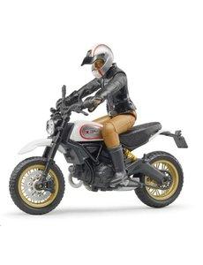 Ducati Scrambler Sled en berijder