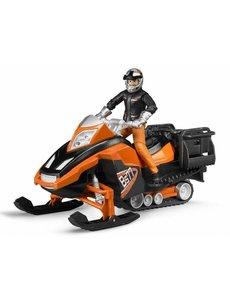 Sneeuwscooter met bestuurder en accessoires