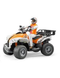 Bruder 63000 - Quad met bestuurder (oranje/wit)