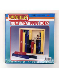 Leercijfer blokken hout - Engelstalig