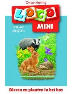Loco mini dieren en planten in het bos