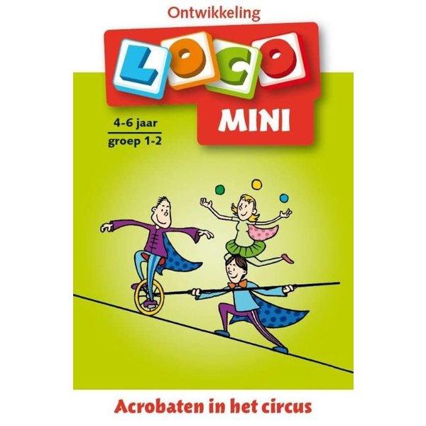 Loco mini acrobaten in het circus