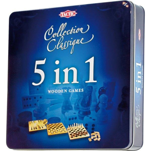 Tactic/Selecta Houten spellen 5 in 1