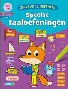 Deltas Zo leuk is oefenen - Speelse taaloefeningen, (7 - 8 jaar)
