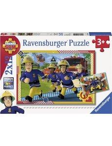 Ravensburger Brandweerman Sam en zijn team - 2 x 12 stukjes