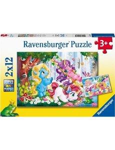 Ravensburger Magische eenhoornwereld - 2 x 12 stukjes