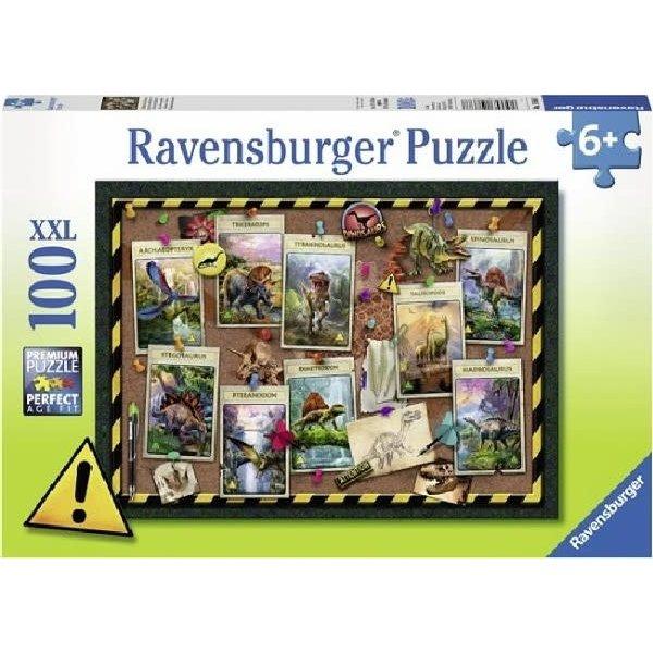 Ravensburger Collectie dinosauriers - 100 stukjes XXL