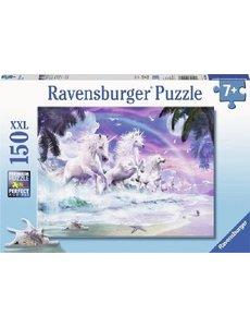 Ravensburger Eenhoorns op het strand - 150 stukjes XXL