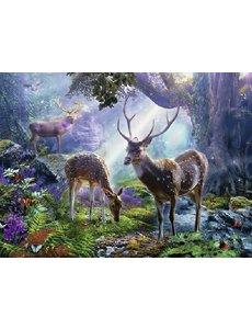 Herten in het bos - 500 stukjes