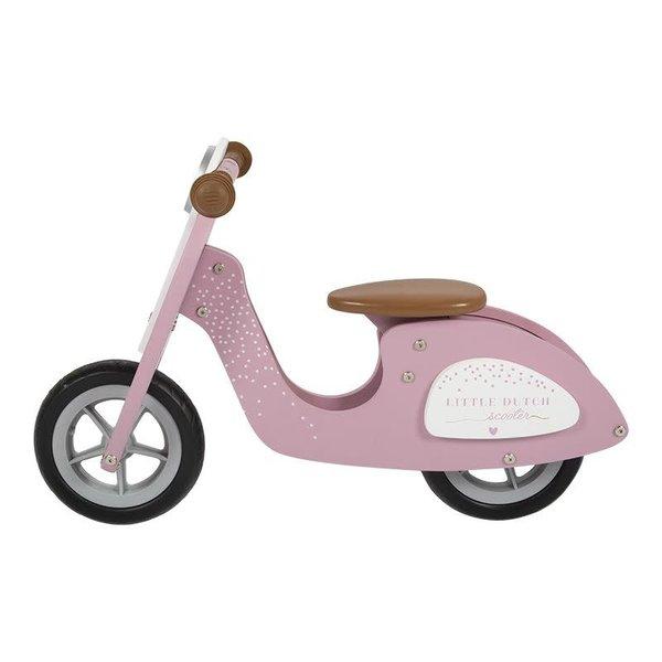 Little Dutch Loopscooter roze