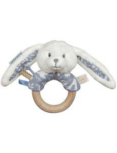 Little Dutch Houten ring rammelaar blauw
