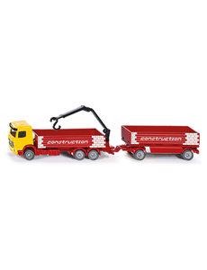 Truck voor constructie materiaal met trailer