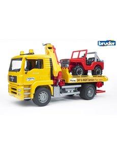 Bruder 2750 - MAN Takelauto met jeep