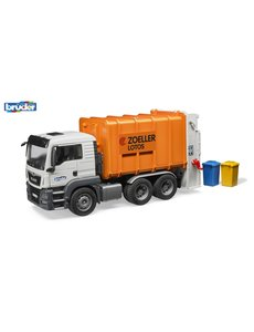 Bruder 3762 - MAN TGS vuilniswagen oranje