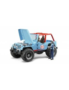 Jeep Cross Country Blauw met rally-rijder
