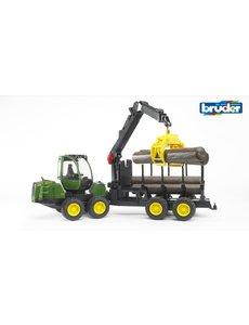 2133 - John Deere 1210E houttransport met kraan