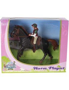 Kids Globe Paard met amazone 1:24 - KG 640078B