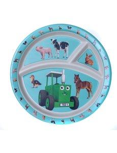 Tractor Ted 3-vaks Bamboe Bord - Kleine dieren
