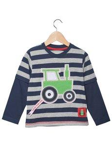 Tractor Ted - Shirt lange mouw - Blauw/Grijs (5-6 jr)