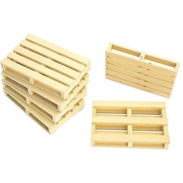 Houten pallets (6 st.) 1:16 - KG610023