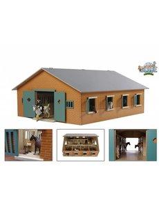 Kids Globe Paardenstal met 7 boxen (geschikt voor Schleich) - KG 610595