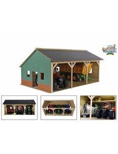 Kids Globe Tractor loods voor 3 tractoren 1:16 - KG610340