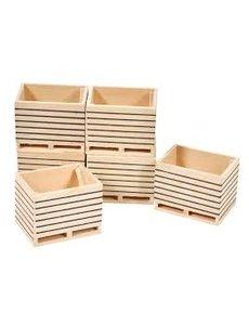 Kids Globe Houten palletboxen / aardappelkisten (6 st.) 1:32 - KG 610611