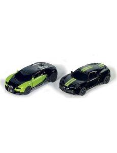 sk 6309 - Geschenkset Special edition 2-delig Bugatti Veyron & Alfa 4c - zwart/groen