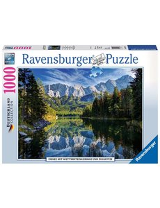 Ravensburger Eibsee met Wettersteingebergte en Zugspitze