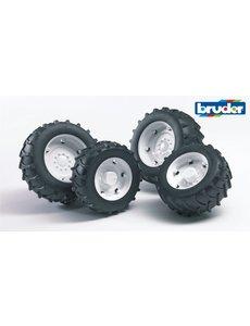 2323 - Dubbellucht wielenset wit