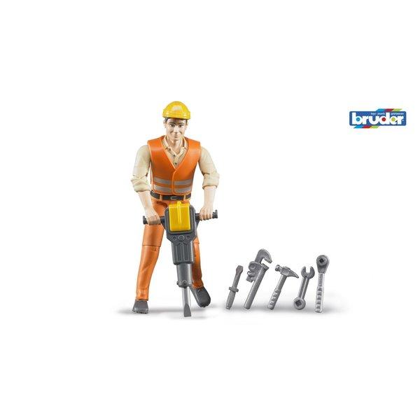 Constructiewerker met accessoires