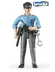 Bruder 60050 - Speelfiguur man: politieman, blank met toebehoren