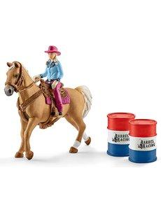 Schleich Barrel racing met cowgirl - 41417
