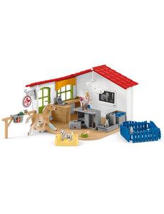 Schleich 42502 - Dierenartsenpraktijk met huisdieren