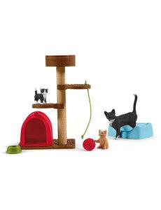Schleich 42501- Krabpaal set met katten