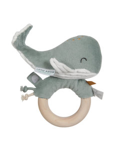 Little Dutch Walvis houten ring, groen